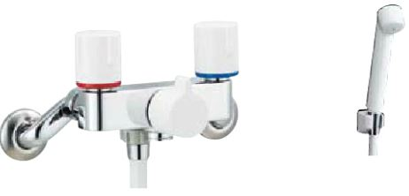 INAX シャワー水栓【BF-WL205HN】ノルマーレS 寒冷地対応 2ハンドル(シャワー専用・一時止水)シャワー水栓 スプレーシャワー 呼び径13mm