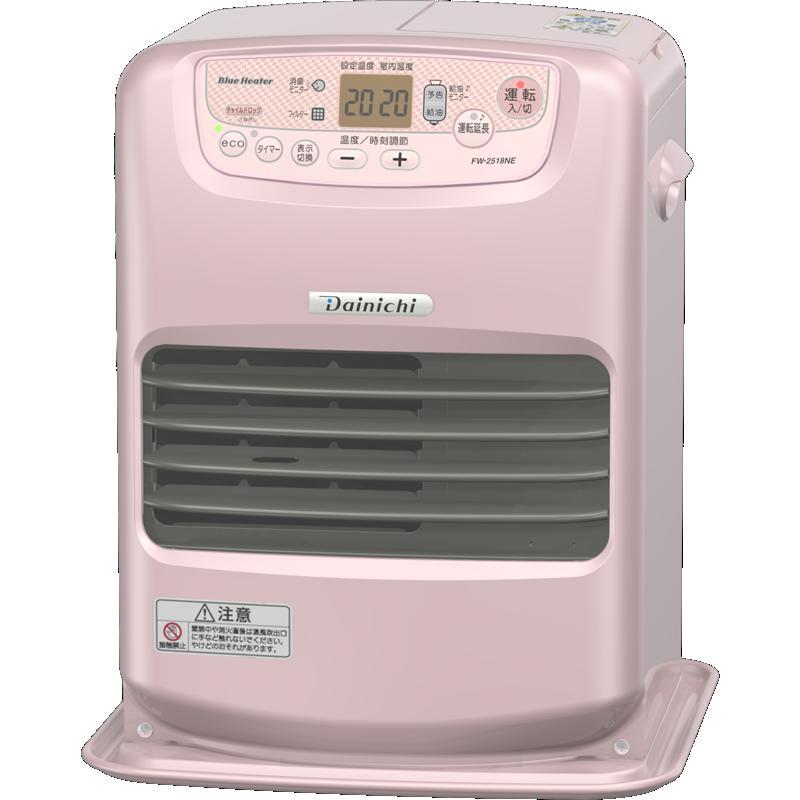 ダイニチ工業 暖房機器【FW-2518NE(R)】NEタイプ 家庭用石油ファンヒーター シャインローズ 3.5L ワンタッチ汚れんキャップ付き (旧品番 FM-2517NE(R))