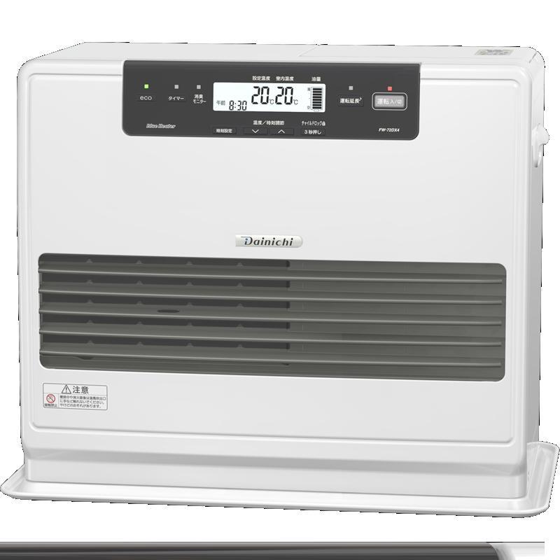 ダイニチ工業 暖房機器【FW-72DX4(W)】DXタイプ 家庭用石油ファンヒーター クールホワイト 9.0L 7.2kWハイパワー (旧品番 FW-72DX3(W))
