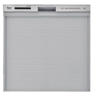 リンナイ 食器洗い乾燥機【RKW-404GP】ステンレス調ハーフミラー 化粧パネル対応 スタンダード