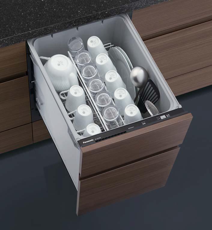 ###パナソニック 食器洗い機 乾燥機【NP-45KD8A】食器洗い乾燥機 K8シリーズ ディープタイプ 幅45cm ドアフル面材型