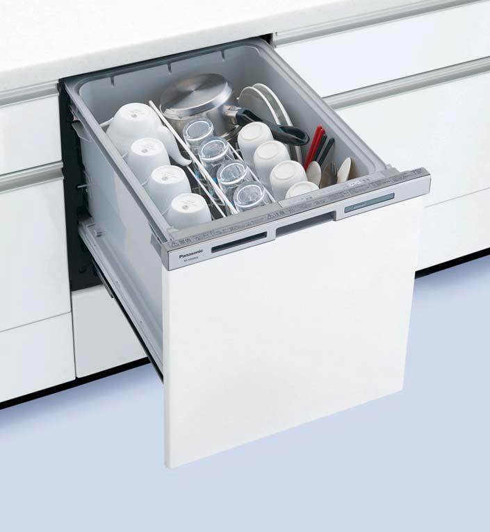 ###パナソニック 食器洗い機 乾燥機【NP-45MS8W】食器洗い乾燥機 M8シリーズ ミドルタイプ 幅45cm ドアフル面材型