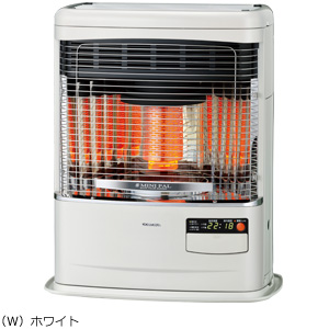 ###コロナ 暖房機器【FF-VY5518P(W)】ホワイト FF式石油暖房機(輻射型) ミニパルシリーズ 木造14畳 コンクリート19畳 (旧品番 FF-VY5517P(W))