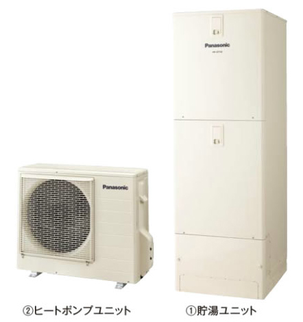 ###パナソニック エコキュート【HE-J37JQS】(コミュニケーションリモコンHE-RQFJW付) Jシリーズ フルオート 屋外設置用 370L