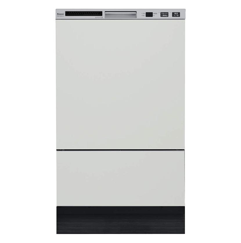 ###リンナイ 食器洗い乾燥機【RKW-F402CM-SV】シルバー フロントオープンタイプ 幅45cm 扉材専用