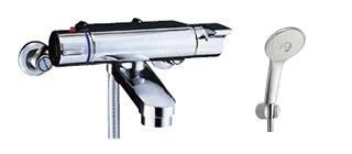 ▽INAX/LIXIL【BF-2147TKSL】サーモスタット付シャワーバス水栓 ヴィラーゴ エコアクアスプレーシャワー(めっき仕様) 一般地
