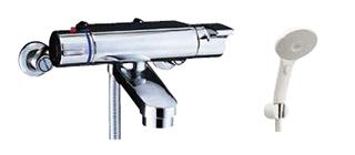 ▽INAX/LIXIL【BF-2147TKSJM】サーモスタット付シャワーバス水栓 ヴィラーゴ エコアクアスイッチシャワー 一般地