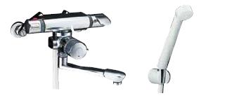 ▽###INAX/LIXIL【BF-7140TSD(250)】サーモスタット付シャワーバス水栓 エコフルスプレーシャワー 吐水口長さ250mm 受注生産約2週