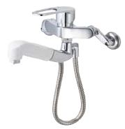 ▽INAX/LIXIL【SF-WM437SYN】ハンドシャワー付シングルレバー混合水栓 クロマーレS(エコハンドル) 寒冷地