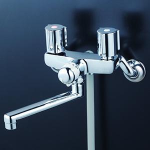 KVK【KF141WEXN】一時止水付2ハンドルシャワー 170mmパイプ付 寒冷地用