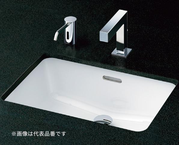 ###TOTO セット品番【L505+TLG07301J】カウンター式洗面器 アンダーカウンター式 台付シングル混合水栓(エコシングル) 床排水金具(Sトラップ)