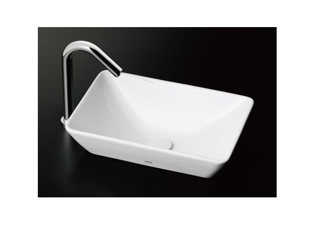 ###TOTO セット品番【L725 #NW1+TENA12BL】カウンター式手洗器 ベッセル式 ホワイト 台付自動水栓(単水栓) 壁排水金具(Pトラップ)
