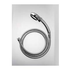 £三栄水栓/SANEI シャワー用品【PS303-CTMA-CD】(メッキ・ブラック) 節水ストップシャワーセット