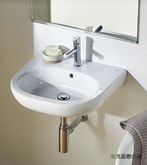 三栄水栓/SANEI【SR327244-W】洗面器 壁付タイプ 水栓取付穴ワンホールタイプ オーバーフロー付 Roca Meridian
