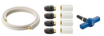 三栄水栓/SANEI 配管システム【T102T-2YS-13AX5-10】ヒートポンプ専用配管セット 耐候性保温材付アルミ複合架橋ポリエチレン管2本セット