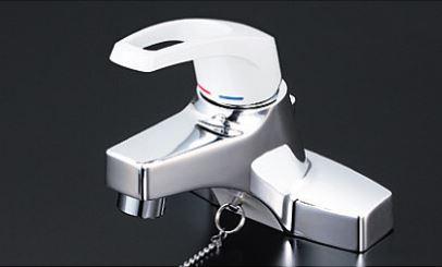 KVK 水栓金具【KM7014T2CN】洗面用シングルレバー式混合栓 ヒートン付 2ツ穴タイプ