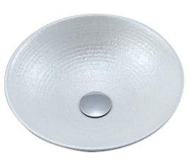 ≧KVK 洗面器【KV88A】美術工芸手洗鉢 天草陶石 パールラスター/六兵