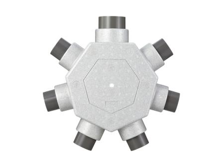 パナソニック ベンテック 換気扇 部材【VB-KB107M】断熱6分岐チャンバー 給気用