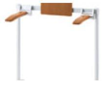 INAX/LIXIL【KFC-292K】肘掛け手すり(床付式・背もたれ付)天然木タイプ パブリック用