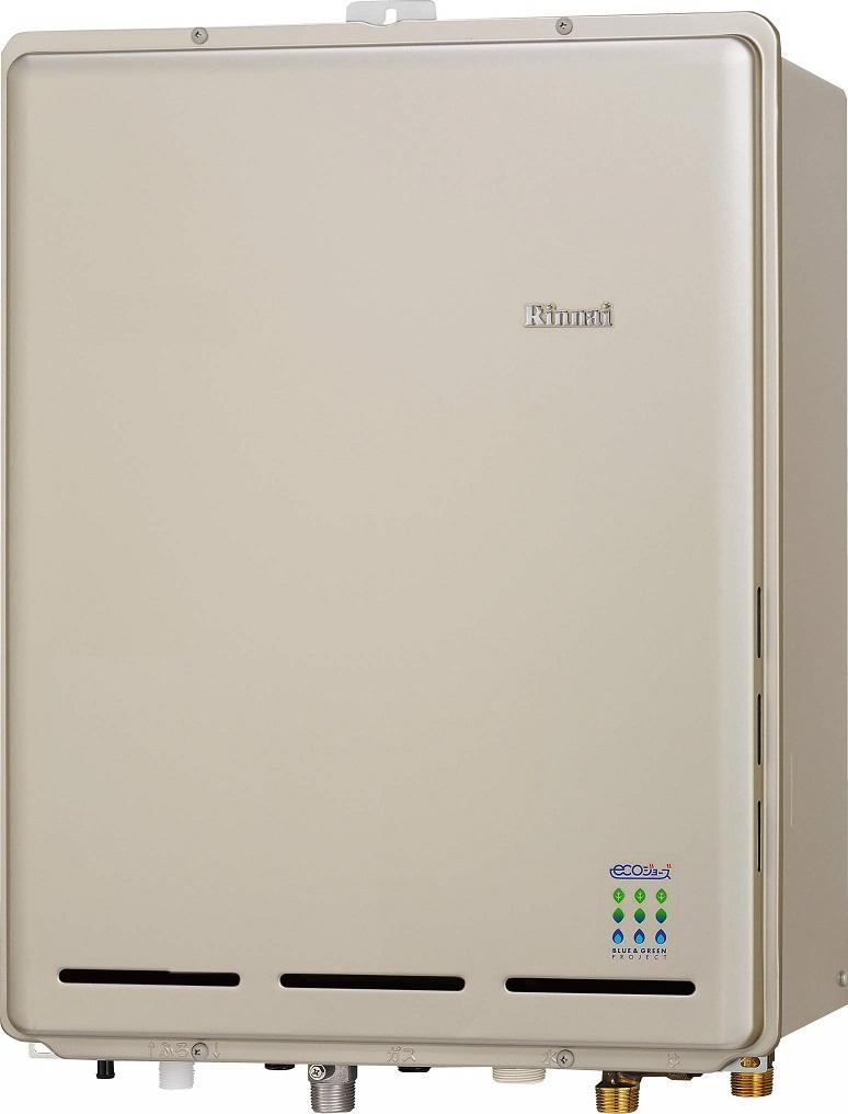 リンナイ ガスふろ給湯器【RUF-E1615AB(A)】PS扉内後方排気型 16号 ecoジョーズ ユッコUF 給湯・給水接続15A 設置フリータイプ フルオート