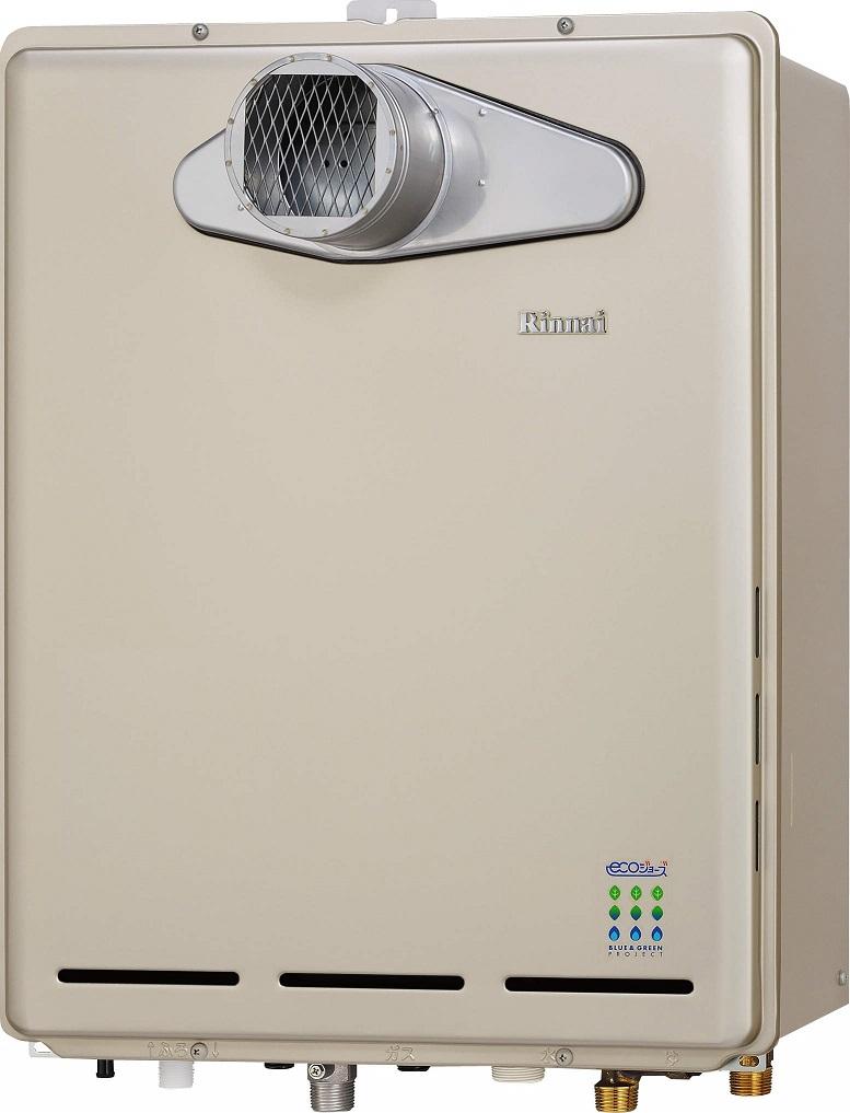 リンナイ ガスふろ給湯器【RUF-E1615AT(A)】PS扉内設置/PS前排気型 16号 ecoジョーズ ユッコUF 給湯・給水接続15A 設置フリータイプ フルオート