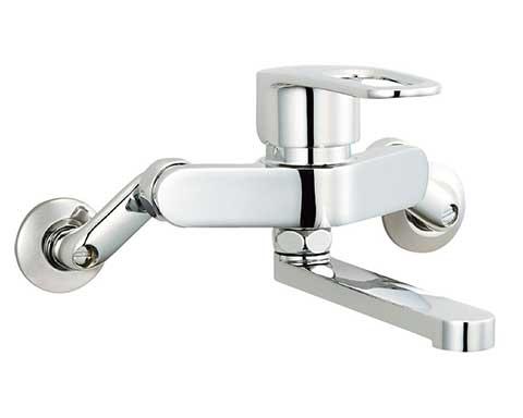 ▽INAX キッチン用水栓金具【SF-WM435SYN】寒冷地 シングルレバー混合水栓 壁付タイプ クロマーレS(エコハンドル)