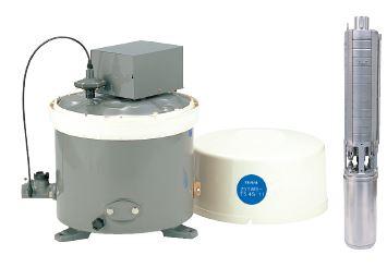 テラル 深井戸用圧力タンク式水中ポンプ【25TWS-T5.2S-8】50Hz 単相100V