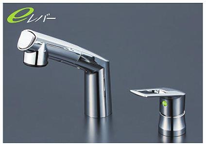 KVK【KM5271TEC】シングルレバー式洗髪シャワー シャワー引出し式