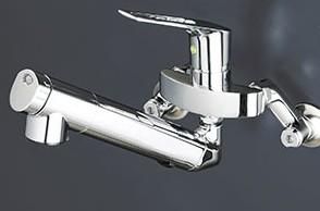 KVK【KM5001ZNEC】浄水器内臓シングルレバー式混合栓 寒冷地用 210mmパイプ付