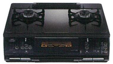 ###♪ノーリツ ガステーブルコンロ【NLW2274ASQ】オートグリル機能付き無水両面焼きグリル ララオート ブラックミラーガラストップ ブラックフェイス
