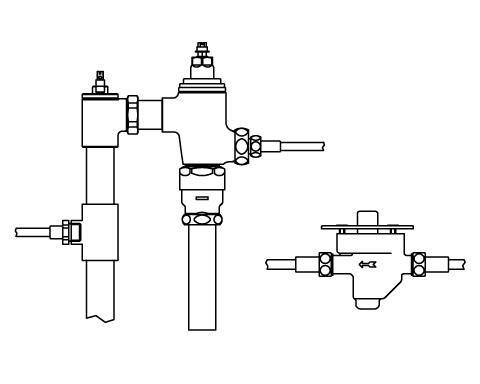 ▽INAX リモコンフラッシュバルブ 洗浄水量6-8L便器用 隠ぺい形(定流量弁付)【CFR-T680S-C】中水仕様 受注生産品