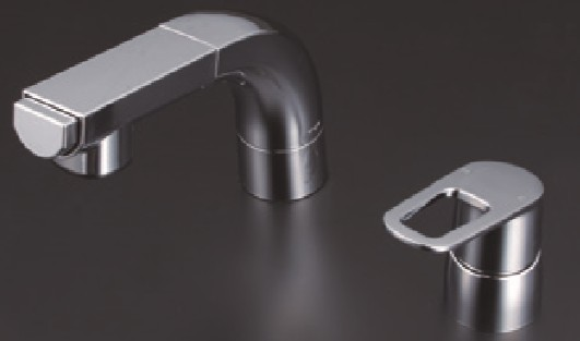 【特別訳あり特価】 KVK 洗面化粧室【FSL120DKCT】シングルレバー式洗髪シャワー:家電と住設のイークローバー-木材・建築資材・設備