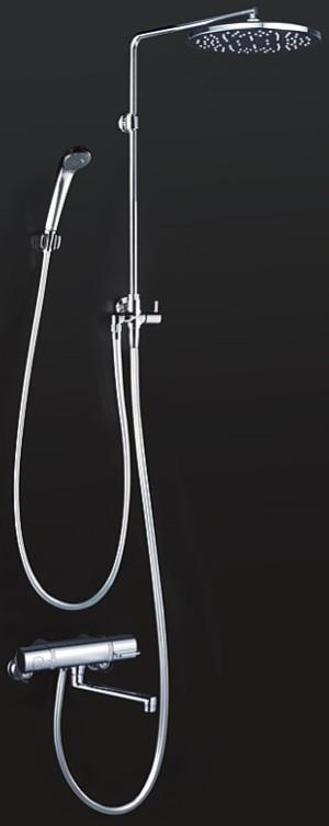 KVK 水栓金具【KF3130】浴室用水栓 オーバーヘッドシャワー付サーモ 170mmパイプ付