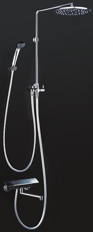 KVK 水栓金具【KF3140】浴室用水栓 オーバーヘッドシャワー付サーモ 170mmパイプ付