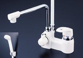 KVK 水栓金具【KF6004R30】浴室用水栓 デッキ型シングルレバー式シャワー 300mmパイプ付