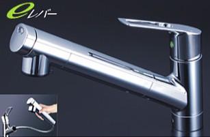 KVK キッチン【KM6001JEC】浄水器内臓シングルレバー式シャワー付混合栓