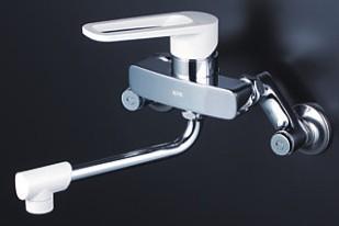 KVK 水栓金具【MSK110KW】壁付シングルレバー式混合水栓