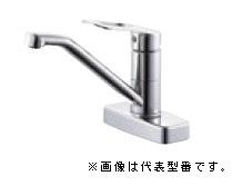 三栄水栓/SANEI 水栓金具【K77CEV-13】シングル台付混合栓
