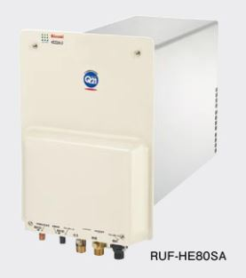 リンナイ ガス給湯器【RUF-HE80SA】ガスふろ給湯器 壁貫通タイプ 壁貫通型 オート 8.2号