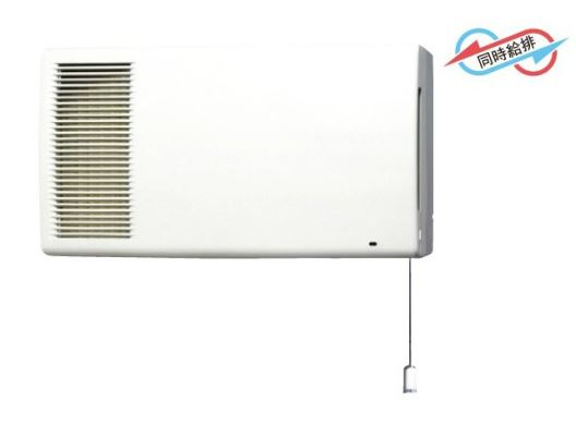 ###東芝 換気扇【VFE-173M】空調換気扇 壁掛形2パイプ フラットパネルタイプ 全熱交換形 受注生産
