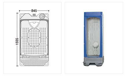 ###u.ハマネツ【TU-iXS】屋外トイレユニット TU-iXシリーズ 非水洗タイプ 小便器 受注約1ヵ月