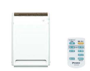 ###ダイキン ストリーマ空気清浄機【ACM80U-W】(ホワイト) 床置形・壁掛け兼用形 ワイヤレスリモコン付