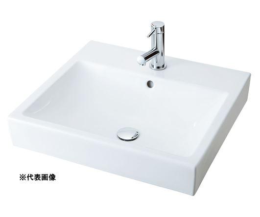 ###INAX/LIXIL 角形洗面器 ベッセル式【YL-A536SYNC(C)】(スクエアタイプ) 寒冷地 シングルレバー混合水栓 壁排水(Pトラップ) 壁給水