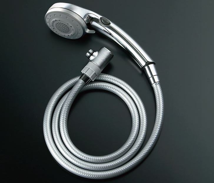▽INAX/LIXIL【BF-SB6WBG(1.6)-AT】エコフルスイッチ多機能シャワーメッキ仕様メタル調シルバーホース(樹脂製防カビホース)