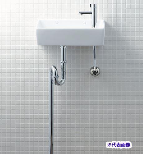 INAX/LIXIL【L-A35HB】狭小手洗器 手洗タイプ(角形) ハイパーキラミック 床排水(Sトラップ) 床給水 一般地・寒冷地共用