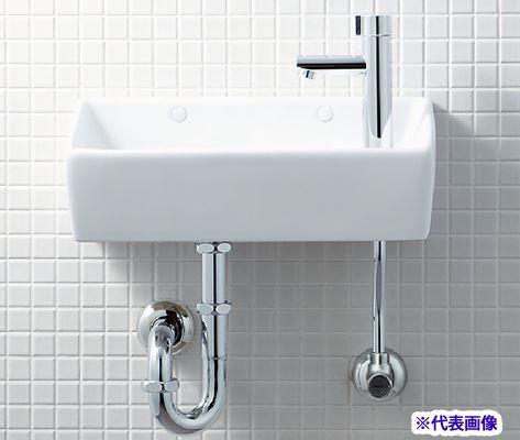 INAX/LIXIL【L-A35HC】狭小手洗器 手洗タイプ(角形) ハイパーキラミック 壁排水(Pトラップ) 壁給水 一般地・寒冷地共用