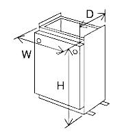 ###♪パーパス 給湯器 部材【SD-6542】据置台 塩害対策塗装品