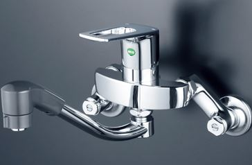 《あす楽》◆15時迄出荷OK!KVK 水栓金具【KM5000TFEC】シングルレバー式シャワー付混合栓(eレバー)
