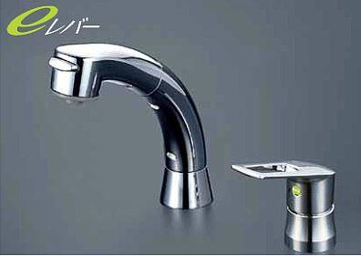 KVK 水栓金具【KM5271TS2EC】シングルレバー式洗髪シャワー(eレバー)