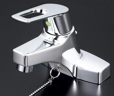 KVK 水栓金具【KM7014ZTHPEC】寒冷地 洗面用シングルレバー式混合栓ポップアップ式(eレバー)